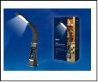 Св. настол. LED  5Вт Подставка светильник настольный TLD-542 Black//300Lm/5000K/Dimmer Светильник настольный c часами, календарем, термометром, 5W. Се