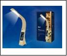 Св. настол. LED  5Вт Подставка светильник настольный TLD-542 Cream//300Lm/5000K/Dimmer Светильник настольный c часами, календарем, термометром, 5W. Се