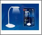 TLD-543 White/LED/350Lm/4500K Светильник настольный, 5W. Механический выключатель. Белый. ТМ Uniel, шк 4690485100041