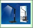 Св. настол. LED  9Вт Подставка светильник настольный TLD-551 Brown//450Lm/3000-6000K/Dimmer/USB Светильник настольный c часами, календарем, термометро