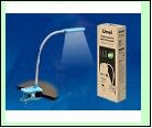 Св. настол. LED  4Вт Подставка светильник настольный TLD-554 Blue//400Lm/5500K/Dimmer Светильник настольный «прищепка», 4W. Сенсорный выключатель. Гол
