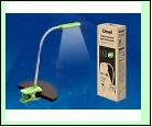 Св. настол. LED  4Вт Прищепка светильник настольный TLD-554 Green//400Lm/5500K/Dimmer Светильник настольный «прищепка», 4W. Сенсорный выключатель. Зел