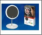 Св. настол. LED  4Вт Подставка светильник настольный TLD-590 White//80Lm/6000K/Dimmer Настольный светильник - зеркало, 4W. Встроенный аккумулятор 3.7V