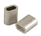 Зажим алюминиевый 4мм DIN3093 для троса