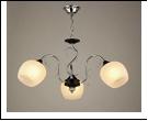 """Люстра """"рожки серебро 3"""" .. светильник потолочный 7895/3C (6) CR+BK E27 605*540"""