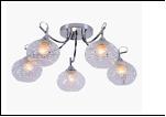 """Люстра """"рожки серебро 5"""" .. светильник потолочный 5556-B/5XA (4) CR E27 540*300"""