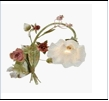 Бра 1-рожк. светильник Beluce NHB1601-1L BRONZE GREEN+PINK ROSE