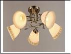 """Люстра """"рожки разн. 5"""" .. светильник потолочный 3245/5N (4) AB E27 550*230"""