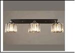 Бра 3-рожк. светильник 70461/3 (6) BK+CR E27 450*160*140 бра