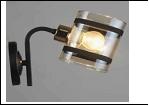 Бра 1-рожк. светильник 78727/1W (20) BK+FGD E27 бра