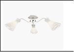 """Люстра """"рожки серебро 3"""" .. светильник потолочный 0603/3N (6) WT+CR E27 670*275"""