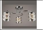 """Люстра """"рожки серебро 3"""" .. светильник потолочный 0635/3N (6) CR E27 475*270"""