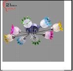 """Люстра """"зерк.круг эксклюзив 8"""" LED-RGB светильник потолочный MD8264/8 (1) Светильник потолочный со светодиодной подсветкой и дистанционным пультом (22"""