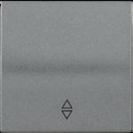 Болеро антрацит Панель лицев. Выкл./Перекл. 1кл. ИЭК Bolero HB-1-2-БА  (1/24/240)