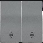 Болеро антрацит Панель лицев. Выкл./Перекл. 2кл. ИЭК Bolero HB-2-2-БА  (1/24/240)