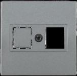 Болеро антрацит Панель лицев. Роз. ТФ ИЭК Bolero RJ12/HDMI НТ12-1-БА  (1/24/240)
