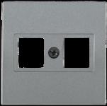 Болеро антрацит Панель лицев. Розетка 2-я комп. ИЭК Bolero НK45-2-БА  (1/24/240)