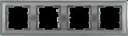 Болеро антрацит Рамка 4-я ИЭК Bolero РГ-4-БА горизонт  (1/10/50)