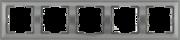 Болеро антрацит Рамка 5-я ИЭК Bolero РГ-5-БА горизонт  (1/10/100)