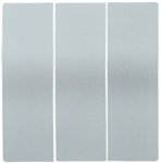 Болеро Серебро Панель лицев. Выкл 3кл ИЭК Bolero HB-3-0-БС  (1/24/240)