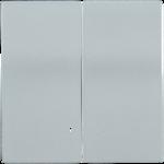 Болеро Серебро Панель лицев. Выкл 2кл с инд ИЭК Bolero HB-2-1-БС  (1/24/240)