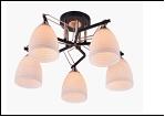 """Люстра """"рожки разн. 5"""" .. светильник потолочный 9279/5B-DA (4) BK+FGD E27 570*280"""