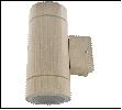 Св.улич. наст.(фасад двухст.) св. дерево GX53 ECOLA  10Вт . светильник LED 8013A накладной IP65 прозр Цилиндр металл 2*GX53 Светлое дерево 205х140х90