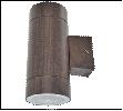 Св.улич. наст.(фасад двухст.) т. дерево GX53 ECOLA  10Вт . светильник LED 8013A накладной IP65 прозр Цилиндр металл 2*GX53 Темное дерево 205x140х90 10