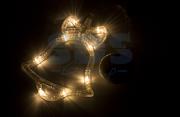 """Фигура светодиодная """"Колокольчик"""" на присоске с подвесом, Теплый белый Neon-Night (1/1/12)"""