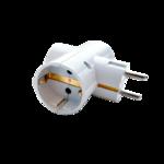 Разветвитель 16А 3гн с 3/К бел IP20  R-3G 4370 IN HOME (1/100)