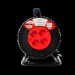 Удл.катушка 4р х 50м с з/к б/выкл. 10A ASD Удлинитель 10А 4гн с 3/К 50м IP20  (1/4)
