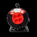 Удл.катушка 4р х 20м с з/к б/выкл. 16А ASD Удлинитель  4гн с 3/К 20м IP20  (1/4)