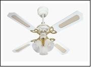 Вентилятор потолочный Ø1050 .  40Вт Princess Trio White (78324WES) потолочный вентилятор, диаметр 105 см, корпус белый, лопасти белый/дуб отбеленный,