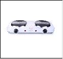 Электроплитка, Мощность: 1000Вт + 1000Вт MAGNIT EH-1013 Электрическая, Число конфорок:2, диск, (белый) [1/6]