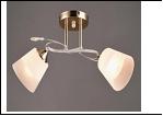 """Люстра """"рожки разн. 2"""" .. светильник потолочный 5700/2C (10) WT+FGD E27 490*350*240"""