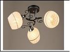 """Люстра """"рожки серебро 3"""" .. светильник потолочный 0053/3N (6) BK+CR E27 520*230"""